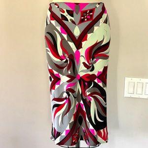 E. Pucci silk stretch skirt.